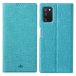 For Samsung Galaxy A03s 4G EU Version ViLi DMX Series Shockproof TPU + PU Leather Magnetic Attraction Horizontal Flip Case with Card Slot & Holder(Blue)