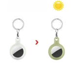 Discoloration in Sun Silicone Protective Cover Case For AirTag(Transparent Change Army Green)