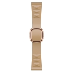 Modern Style Silicone Replacement Strap Watchband For Apple Watch Series 6 & SE & 5 & 4 40mm / 3 & 2 & 1 38mm, Style:Rose Gold Buckle(Walnut)