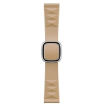 Modern Style Silicone Replacement Strap Watchband For Apple Watch Series 6 & SE & 5 & 4 44mm / 3 & 2 & 1 42mm, Style:Silver Buckle(Walnut)