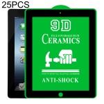 25 PCS 9D Full Screen Full Glue Ceramic Film For iPad 4 / 3 / 2 9.7 inch