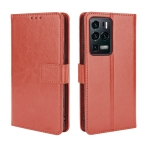 For ZTE Axon 30 Ultra 5G Crazy Horse Texture Horizontal Flip Leather Case with Holder & Card Slots & Lanyard(Brown)