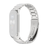 For Xiaomi Mi Band 6 / 5 / 4 / 3 Metal CS Bamboo Joint Stainless Steel Replacement Watchband(Silver)