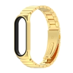For Xiaomi Mi Band 6 / 5 / 4 / 3 Metal CS Bamboo Joint Stainless Steel Replacement Watchband(Gold)