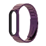 For Xiaomi Mi Band 6 / 5 / 4 / 3 Metal CS Bamboo Joint Stainless Steel Replacement Watchband(Purple)