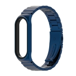 For Xiaomi Mi Band 6 / 5 / 4 / 3 Metal CS Bamboo Joint Stainless Steel Replacement Watchband(Blue)