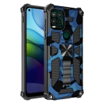 Camouflage Armor Shockproof TPU + PC Magnetic Protective Case with Holder For Motorola Moto G Stylus 5G(Blue)