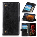 For Samsung Galaxy M32 Copper Buckle Nappa Texture Horizontal Flip Leather Case with Holder & Card Slots & Wallet(Black)
