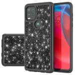 For Motorola Moto G Stylus 5G Glitter Powder Contrast Skin Shockproof Silicone + PC Protective Case(Black)