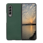 For Samsung Galaxy Z Fold3 5G Litchi Texture Shockproof Protective Leather Case(Green)
