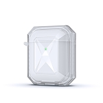 Anti-fall Wireless Contrast Color Earphone TPU Protective Case For AirPods 1/2(White)