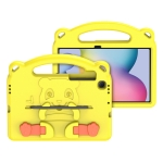 DUX DUCIS PANDA Series Shockproof EVA Protective Case with Handle & Holder & Pen Slot For Samsung Galaxy Tab S6 Lite 10.4 P610 & P615 2020(Yellow)