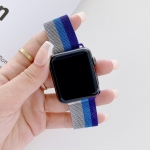 Four-colors Milanese Replacement Strap Watchband For Apple Watch Series 6 & SE & 5 & 4 40mm / 3 & 2 & 1 38mm(Silver Grey Blue Purple)