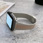 Small Waist Steel Replacement Strap Watchband For Apple Watch Series 6 & SE & 5 & 4 40mm / 3 & 2 & 1 38mm(Silver Rose Gold)