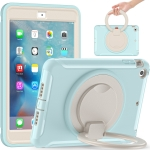 Shockproof TPU + PC Protective Case with 360 Degree Rotation Foldable Handle Grip Holder & Pen Slot For iPad mini 3 / 2 / 1(Ice Crystal Blue)