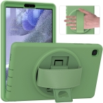 For Samsung Galaxy Tab A7 Lite 8.7 T220 360 Degree Rotation PC + TPU Protective Case with Holder & Hand-strap & Pen Slot(Green)