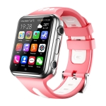 W5 1.54 inch Full-fit Screen Dual Cameras Smart Phone Watch, Support SIM Card / GPS Tracking / Real-time Trajectory / Temperature Monitoring, 3GB+32GB(Silver Pink)