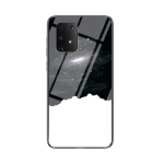 For Samsung Galaxy M80s Starry Sky Painted Tempered Glass TPU Shockproof Protective Case(Cosmic Starry Sky)