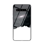 For Samsung Galaxy S10 5G Starry Sky Painted Tempered Glass TPU Shockproof Protective Case(Cosmic Starry Sky)