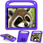 Handle Portable EVA Shockproof Protective Case with Triangle Holder For iPad Air 10.9 2020 /  iPad Pro 11 2021 / 2020(Purple)