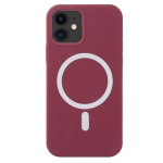 Nano Silicone Shockproof Magsafe Case For iPhone 13 mini(Wine Red)