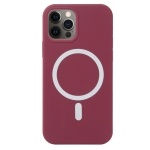 Nano Silicone Shockproof Magsafe Case For iPhone 13 Pro(Wine Red)