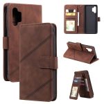 For Samsung Galaxy A32 4G Skin Feel Business Horizontal Flip PU Leather Case with Holder & Multi-Card Slots & Wallet & Lanyard & Photo Frame(Brown)