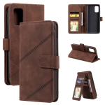 For Samsung Galaxy A02s EU Version Skin Feel Business Horizontal Flip PU Leather Case with Holder & Multi-Card Slots & Wallet & Lanyard & Photo Frame(Brown)