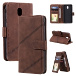 For Samsung Galaxy J5 2017 Skin Feel Business Horizontal Flip PU Leather Case with Holder & Multi-Card Slots & Wallet & Lanyard & Photo Frame(Brown)