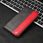 Business Solid Color Stitching Horizontal Flip Leather Case with Holder & Card Slots For iPhone 13(Red)