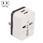 WN-2018 Dual USB Travel Charger Power Adapter Socket, US Plug