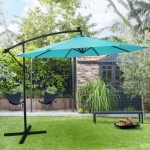[US Warehouse] Outdoor Patio Offset Lighted Hanging Cantilever Umbrella, Size: 10FT(Blue)