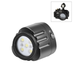 PULUZ 40m Underwater LED Photography Fill Light 1000LM 3.7V/1100mAh Diving Light for GoPro HERO9 Black / HERO8 Black / HERO7 /6 /5 /5 Session /4 Session /4 /3+ /3 /2 /1, Insta360 ONE R, DJI Osmo Action and Other Action Cameras(Black)