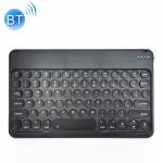 X3S 10 inch Universal Tablet Round Keycap Wireless Bluetooth Keyboard, Backlight Version (Black)
