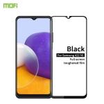 For Samsung Galaxy A22 5G MOFI 9H 2.5D Full Screen Tempered Glass Film(Black)