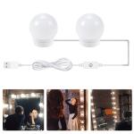 LED Mirror Front Lamp USB Adjustable Brightness Makeup Fill Light Bulbs, Power source: 2 LEDs