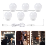 LED Mirror Front Lamp USB Adjustable Brightness Makeup Fill Light Bulbs, Power source: 6 LEDs