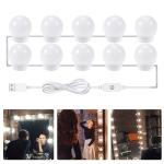 LED Mirror Front Lamp USB Adjustable Brightness Makeup Fill Light Bulbs, Power source: 10 LEDs
