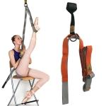 Taekwondo Ballet Dance Yoga Supplies Horizontal Open Rigid Strips Stretching Fork Training Belt(Orange)