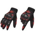 BSDDP RH-A010 Motorcycle Riding Gloves Anti-Slip Wear-resisting Outdoor Gloves, Size: XL(Red)