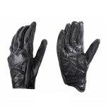 BSDDP A0102 Leather Full Finger Locomotive Gloves Racing Anti-Fall Breathable Touch Screen Gloves, Size: L(Breathable)
