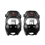 PRO Stainless Steel Knee Pads Riding Equipment Safety Protective Gear(Black)