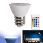 Energy-Saving LED Discoloration Light Bulb Home 15 Colors Dimming Background Decoration Light, Style: Transparent Cover E27(RGB White)