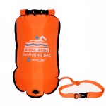 MARJAQE MR809 20L Double Airbags Swimming Drift Bag Waterproof Swimming Storage Bag(Orange)