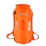 MARJAQE MR901 Double Airbags Swimming Drift Buoy Detachable Waterproof Backpack Outdoor Swimming Storage Bag, Capacity: 28L