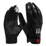 BSDDP A0112 Motorcycle Plush Cold-proof Touch Screen Riding Gloves Windproof Waterproof Outdoor Sports Gloves, Size: XL(Black)
