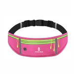 CWILKES MF-008 Outdoor Sports Fitness Waterproof Waist Bag Phone Pocket, Style: Four Pockets(Rose Red)