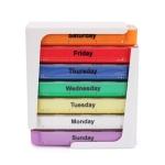 7 Days 28 Grid Square Drawer Type Portable Pill Box(11x12x3.8cm)