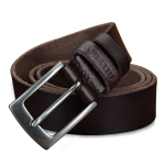 COWATHER XF018 Men Casual Business Pin Buckle Cowhide Belt,Length: 110cm(Coffee Color)