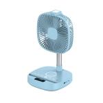 H9 Multifunctional USB Fan Fill Light Phone Stand Folding Bluetooth Speaker Desktop Floor Wireless Charging Fan(Blue)
